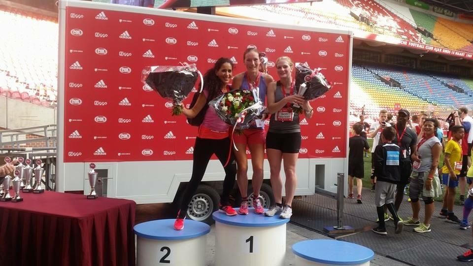 Podium dames 5km.      Foto: Jeroen Vels